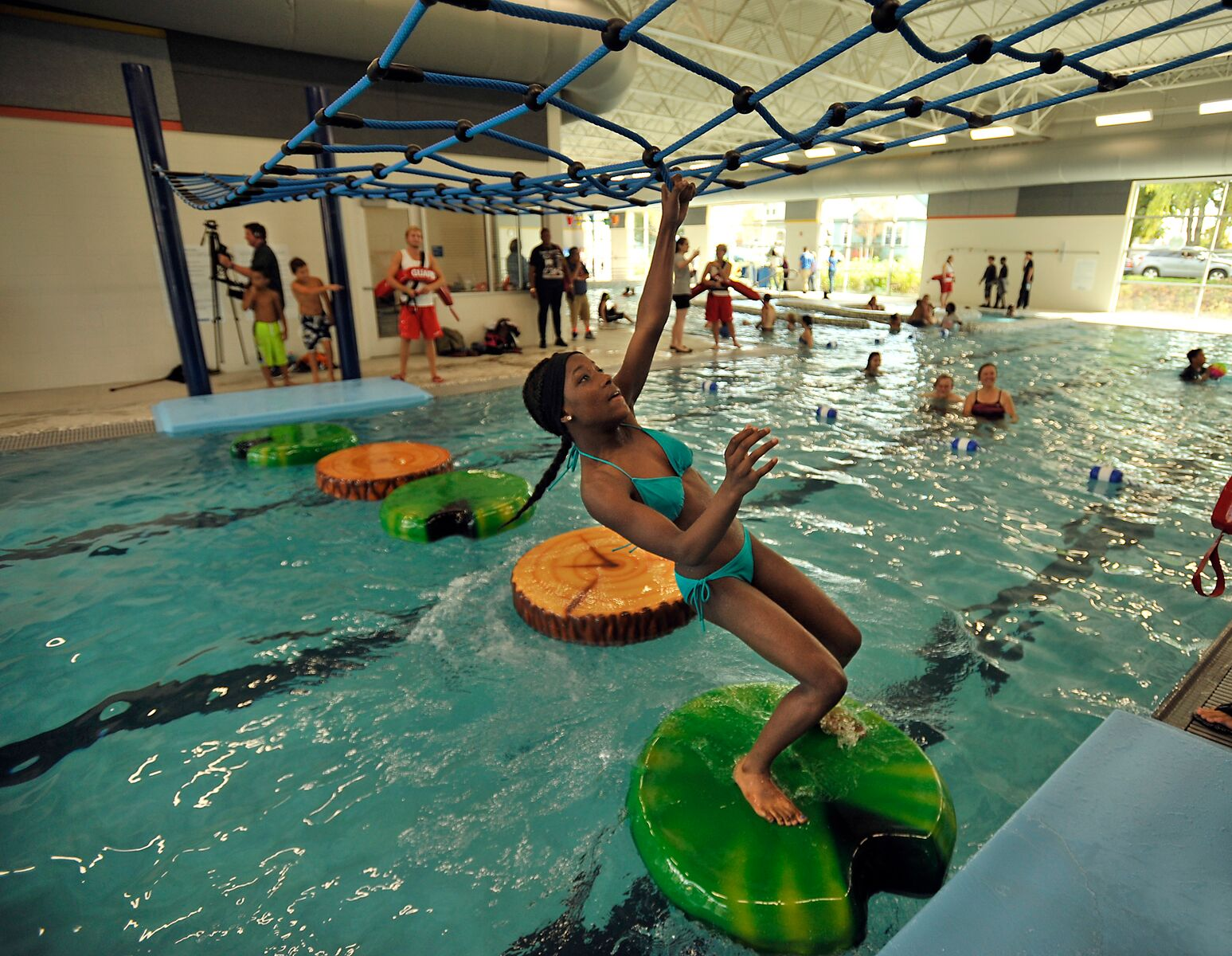 Home indoor pool with slide  Swimming in Seattle: Insider's Guide to Kid-Friendly Indoor ...
