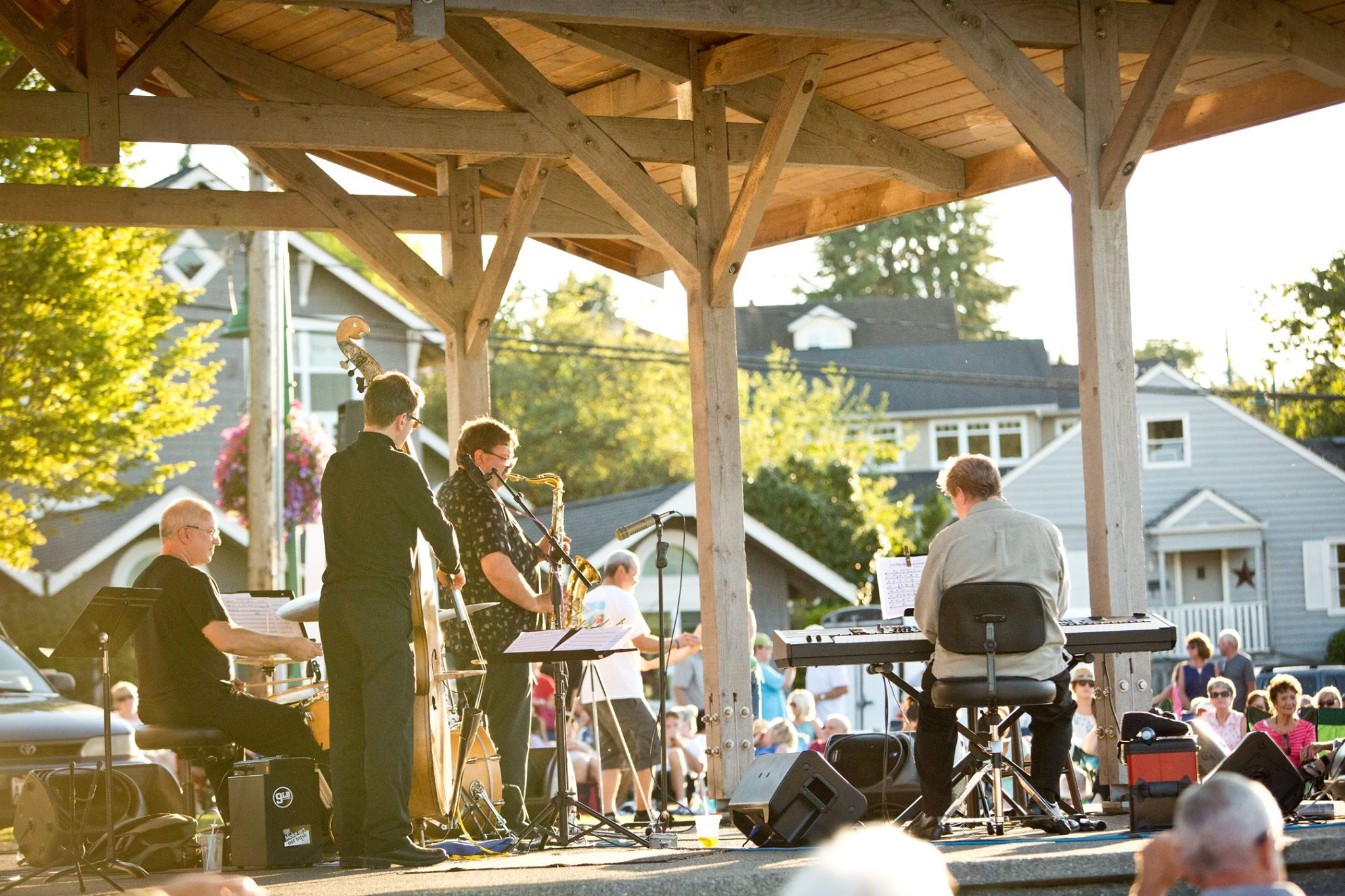 Summer concert in the park at Skansie Brothers Park in Gig Harbor