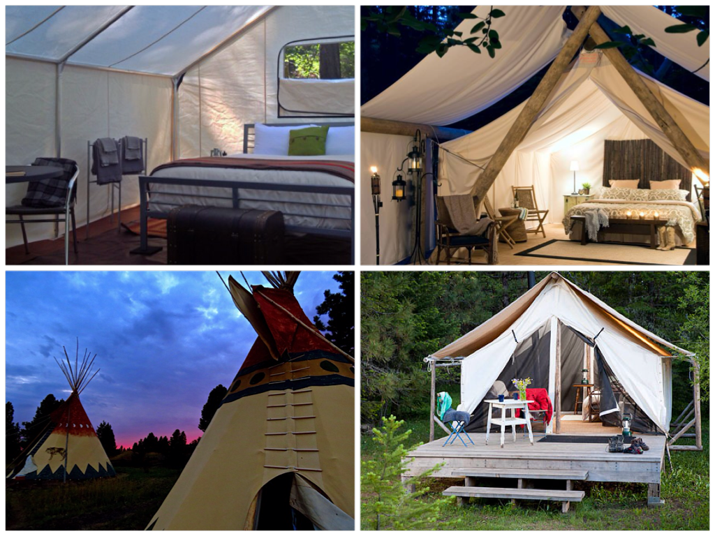Canvas Sleeping Cabana : Happy glampers luxury camping spots in the northwest