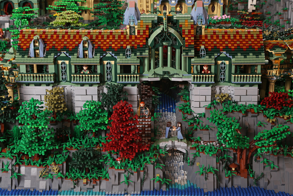 Amazing LEGO creations by Alice Finch - Rivendell View 2