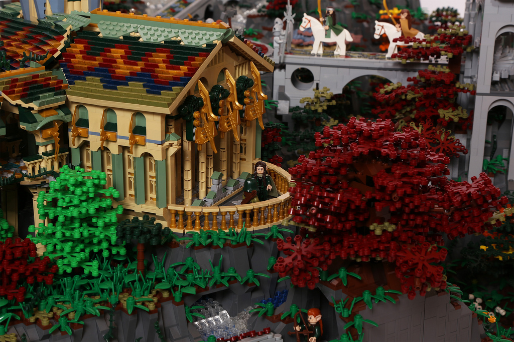 Amazing LEGO creations by Alice Finch - Elrond's Study in Rivendell