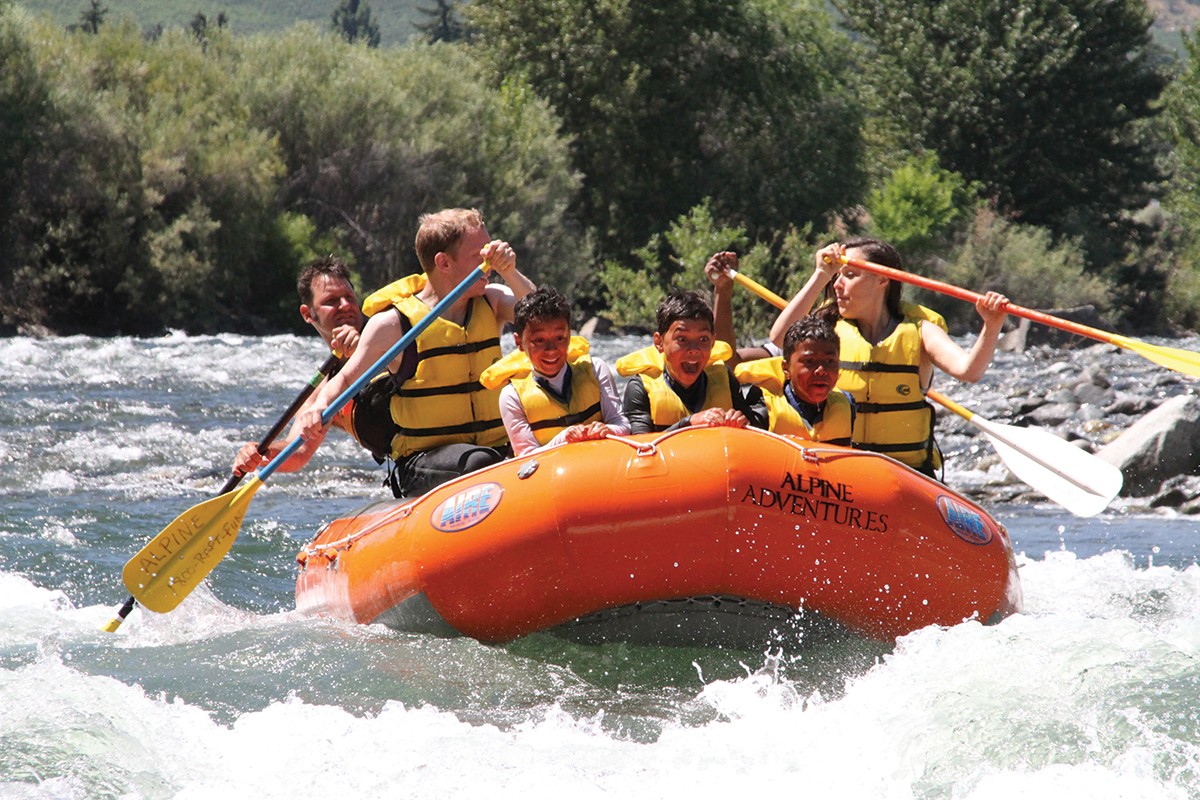river rafting with the family