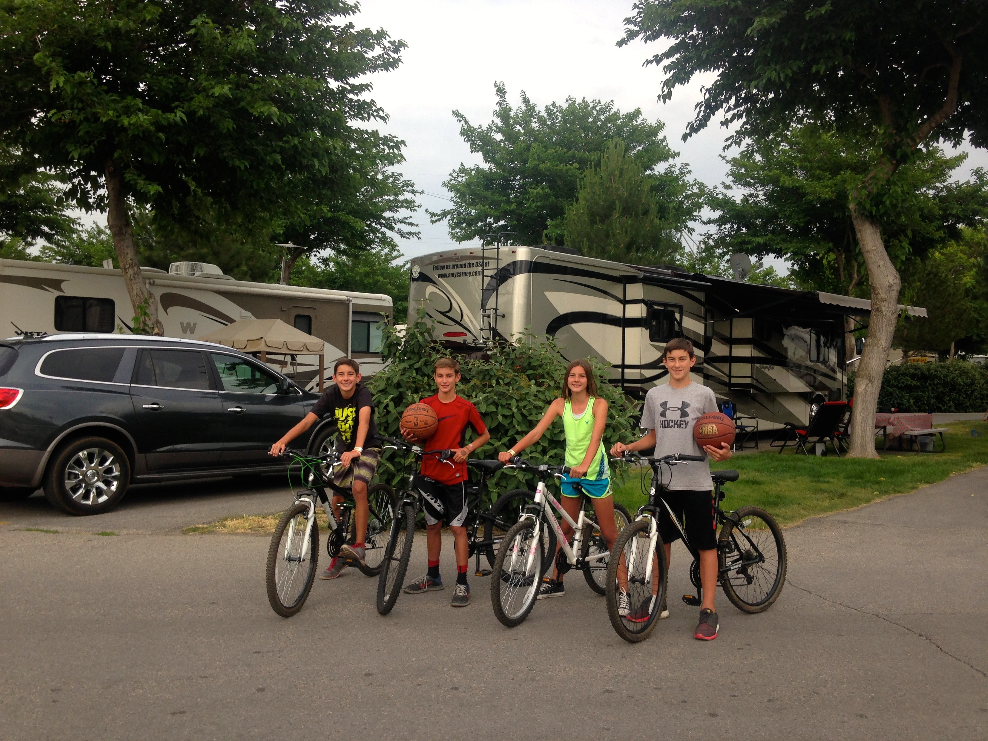 the carney family at a KOA campground in Salt Lake City