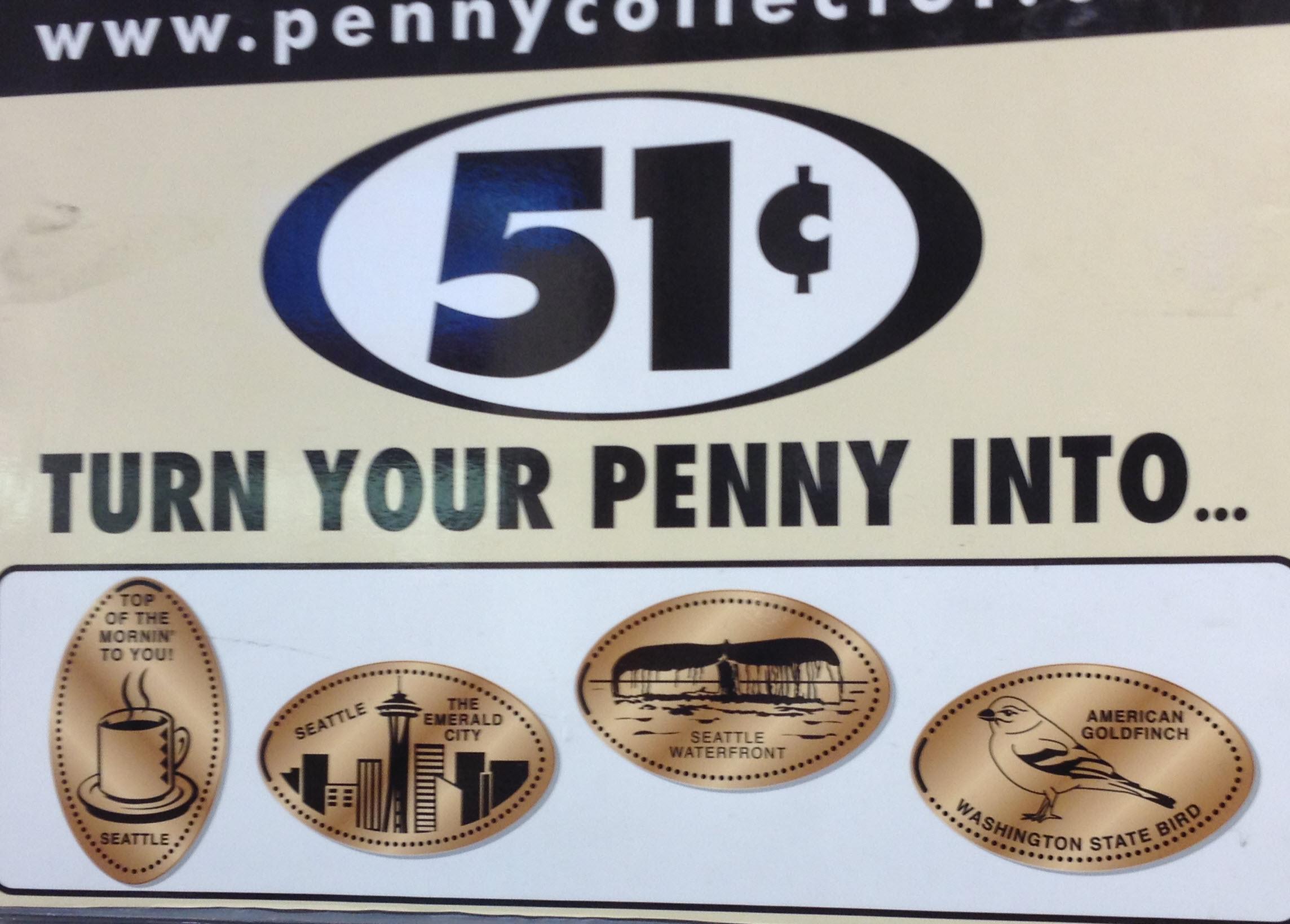 Historic Waterfront Seattle WA elongated penny