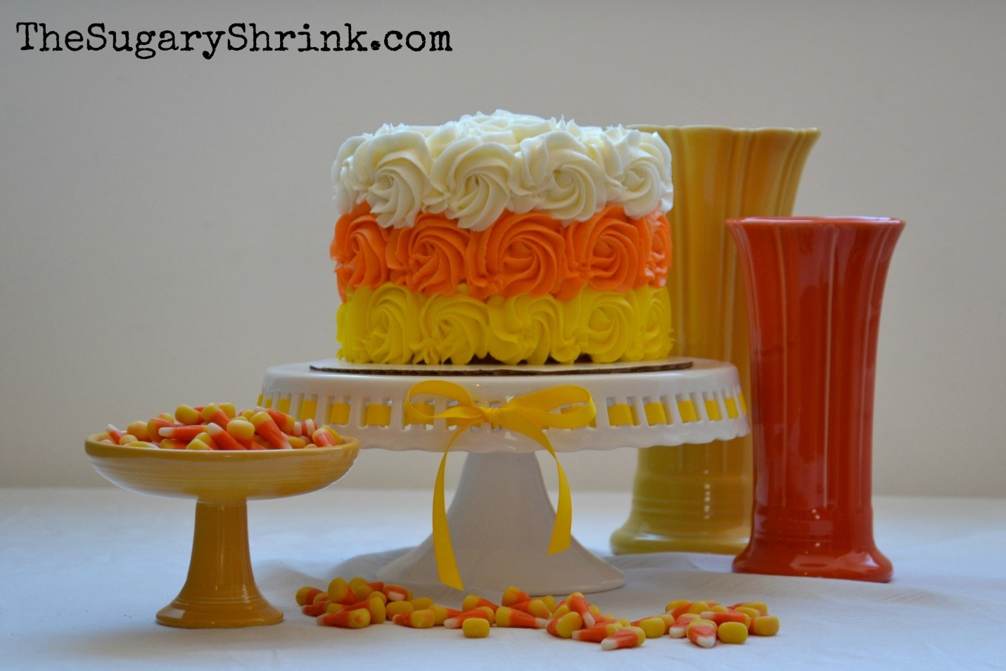 simple is good candy corn cake