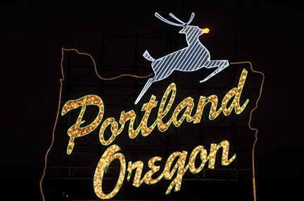 portland reindeer sign oregon travel