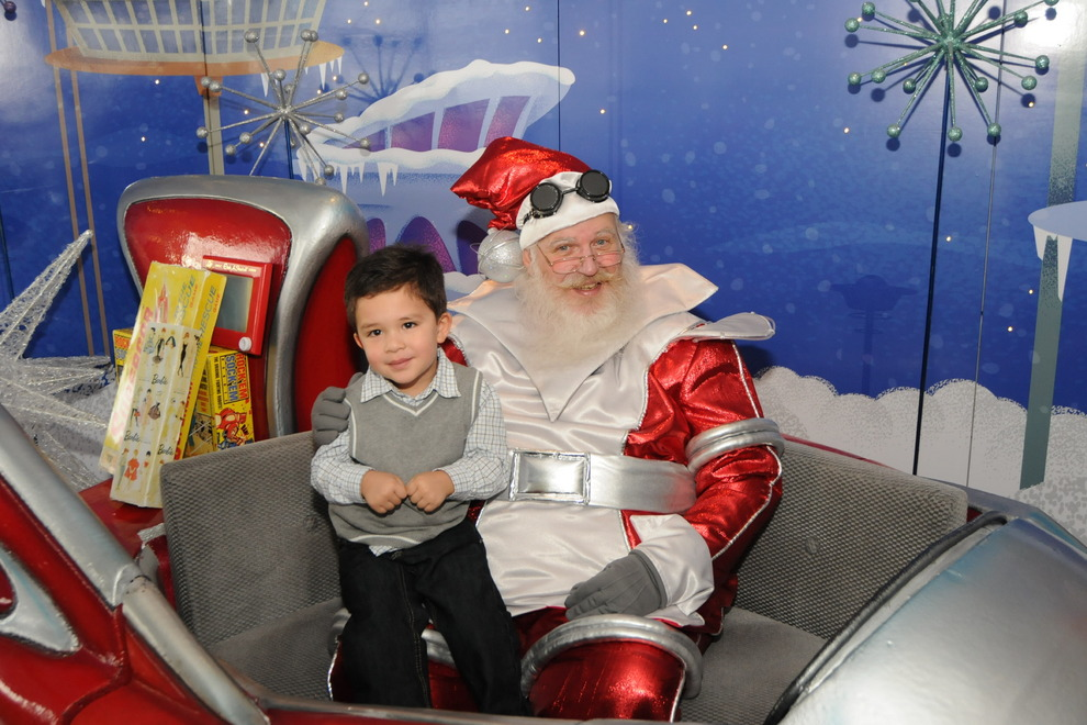 Santa at the Space Needle. Photo courtesy the Space Needle website