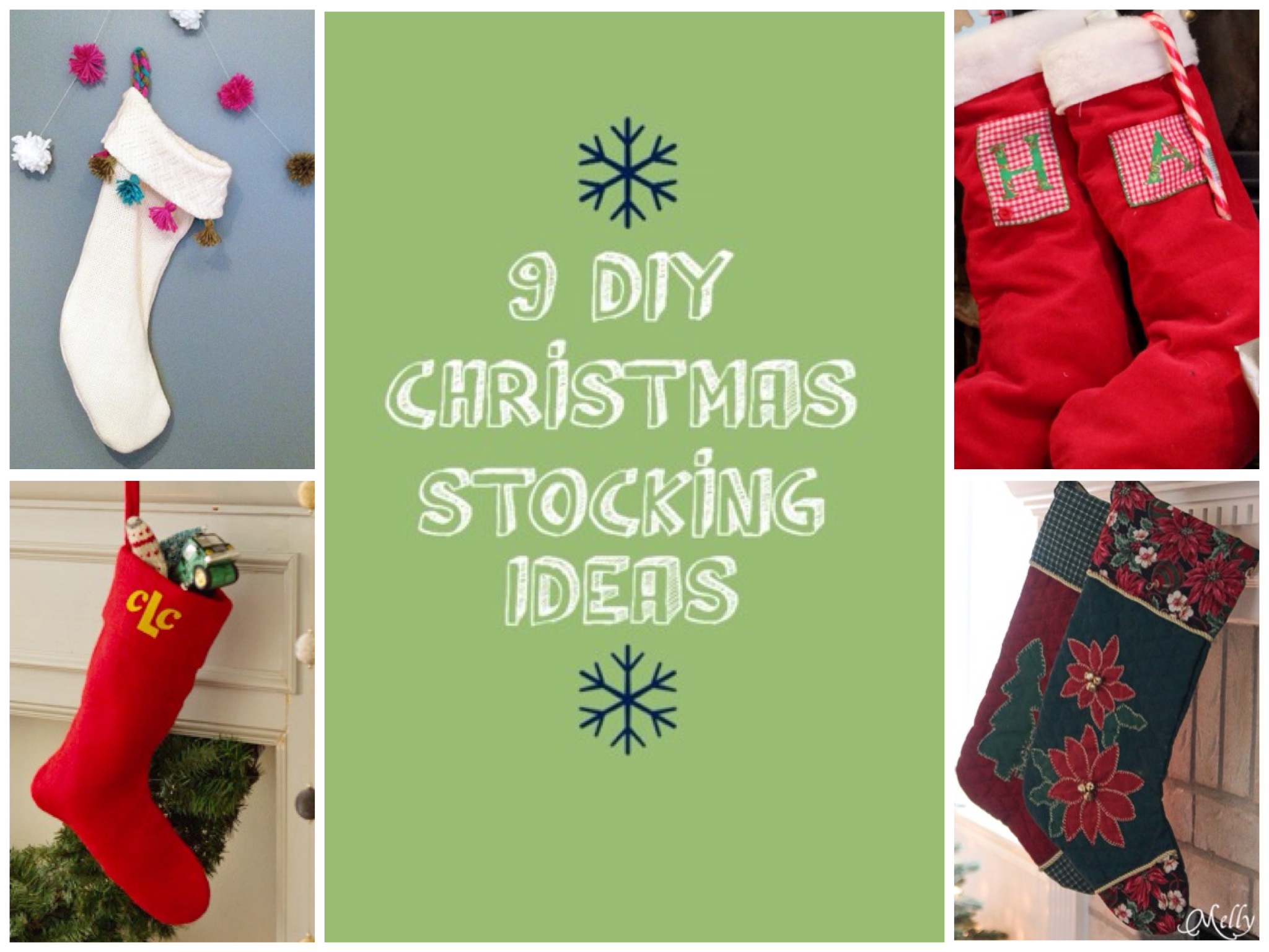 Christmas Stocking Craft Ideas Part - 28: 9 Handmade Christmas Stocking Ideas