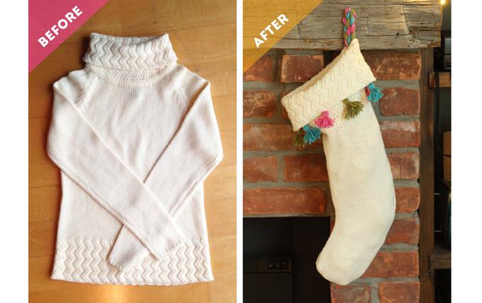 9 handmade christmas stocking ideas parentmap - Sweater Christmas Stockings