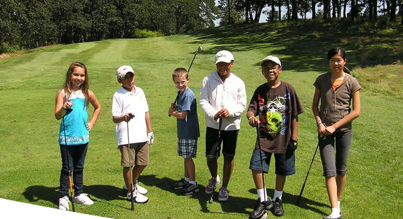 Campers at golf camp at Meadow Park Golf Course