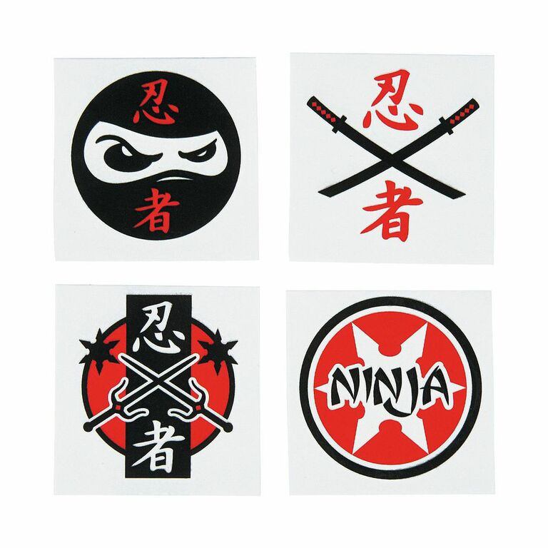 Hiyah 12 Ninja Birthday Party Ideas – Tattoo Party Invitations