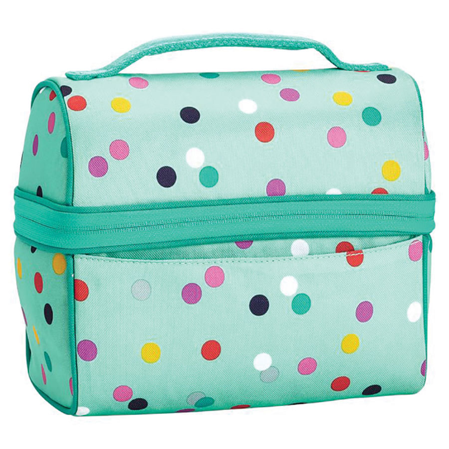 Gear-Up Mint Confetti retro lunch bag from Pottery Barn Teen