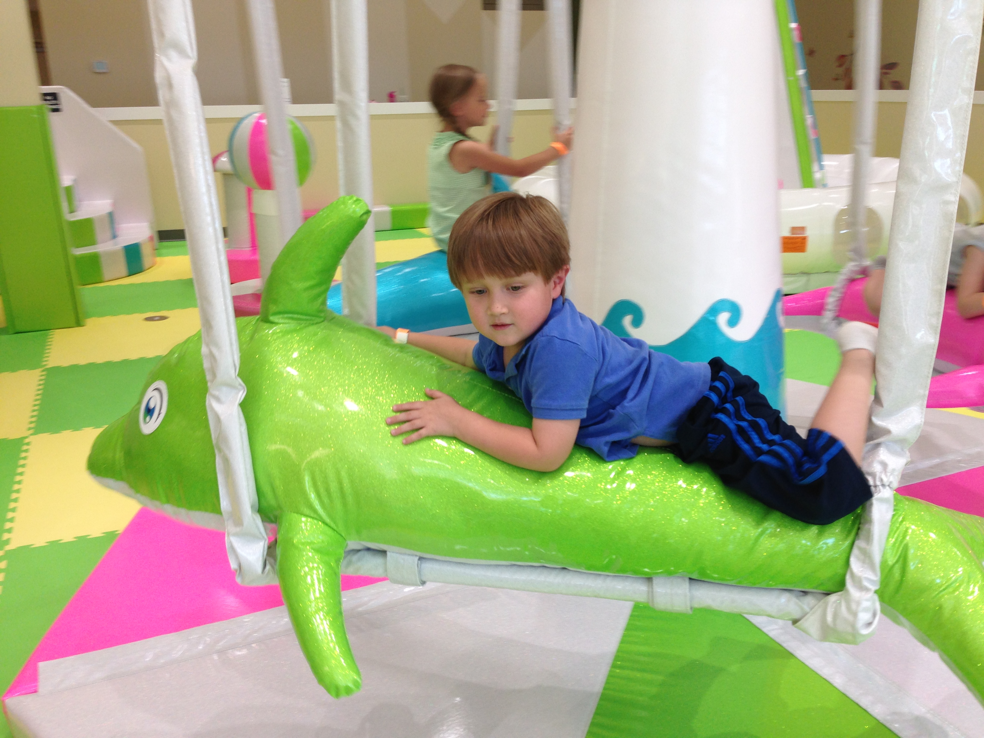 Dolphin merry-go-round at Giggle Jungle