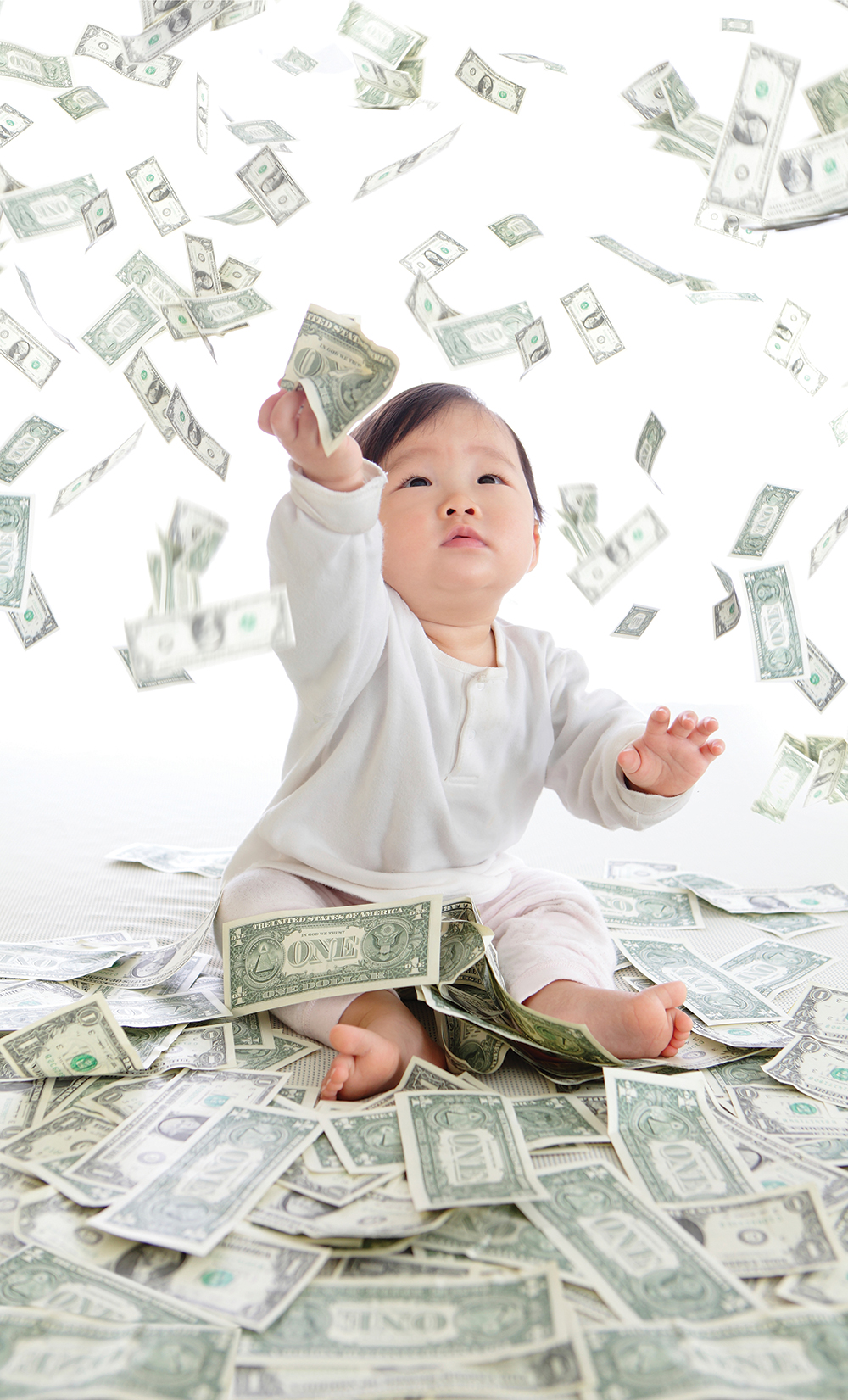 Image result for child throwing up money