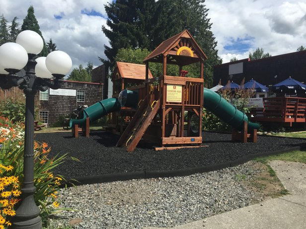New playground at Country Village in Bothell
