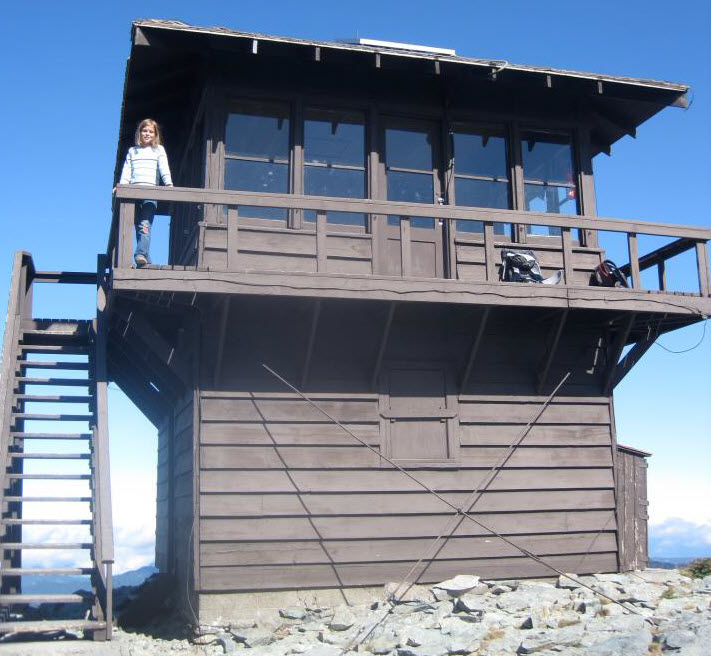 Fire lookout at Rainier. Photo credit: Jonathan Shipley