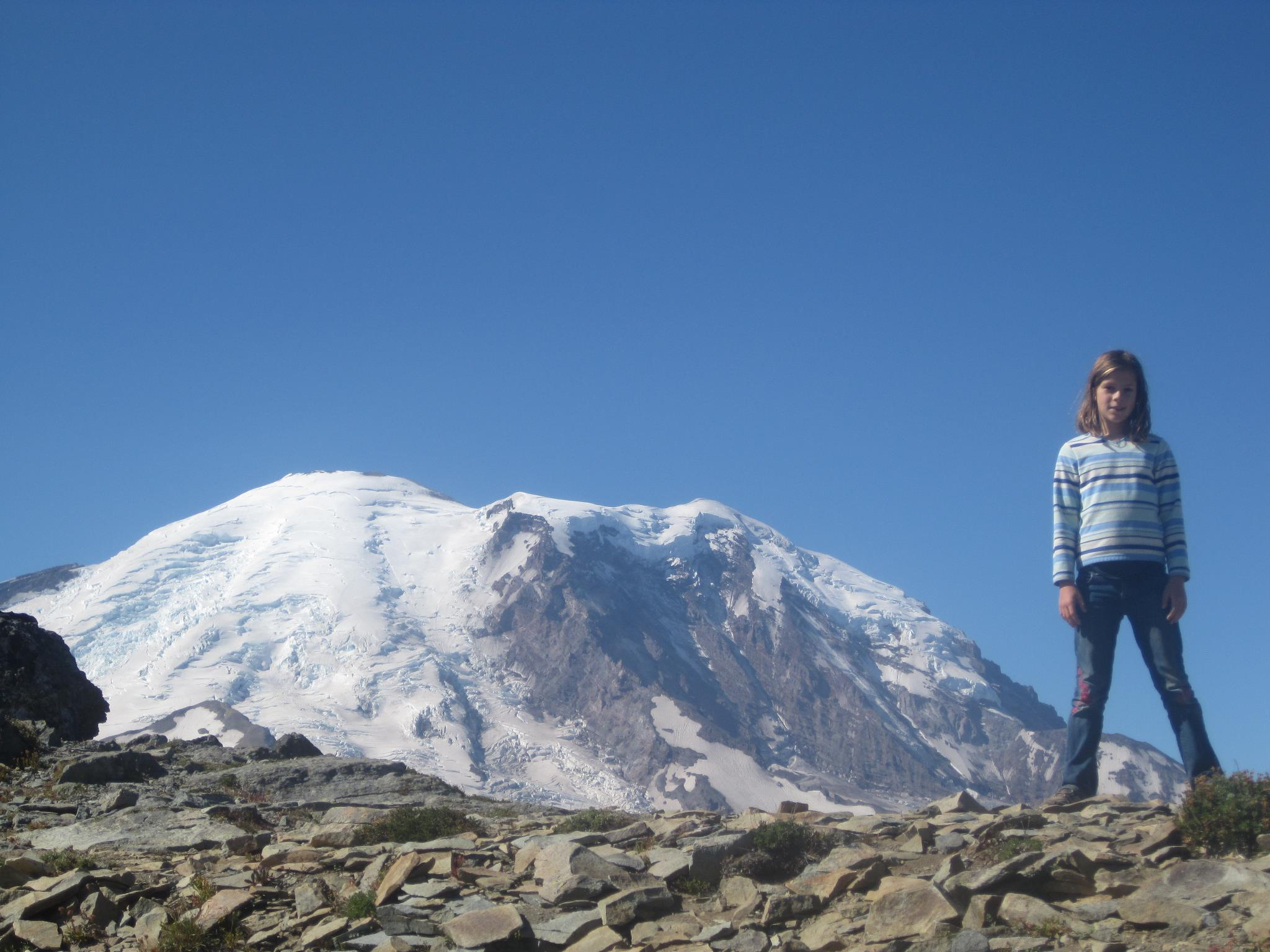 The author's daughter on a hike at Rainier. Credit: Jonathan Shipley