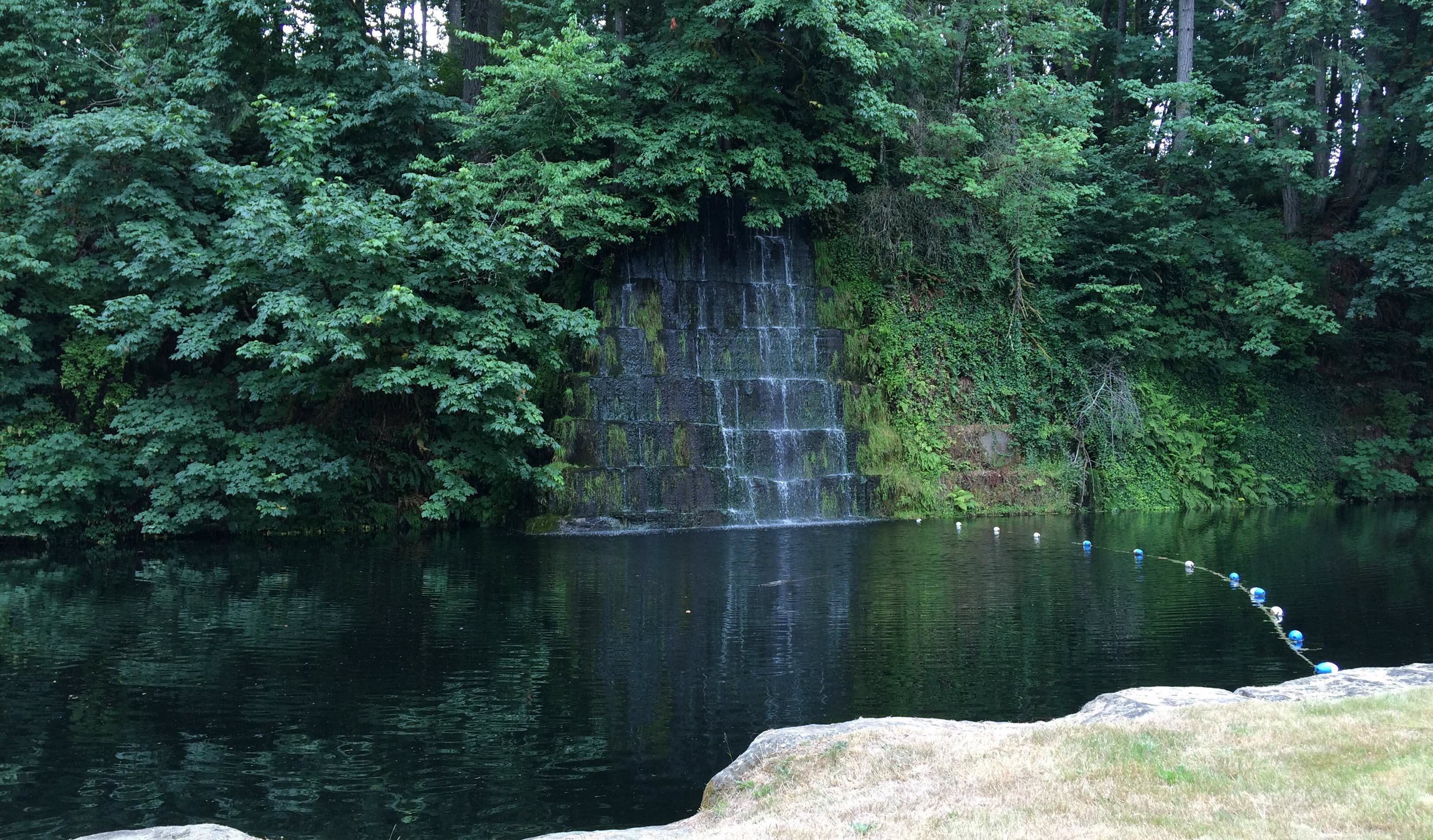 The waterfall at the deep pool. Courtesy City of Tenino