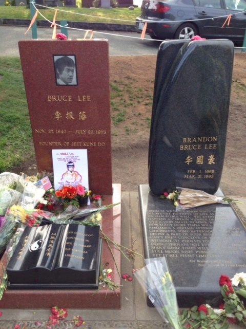 Gravesites of Brandon and Bruce Lee