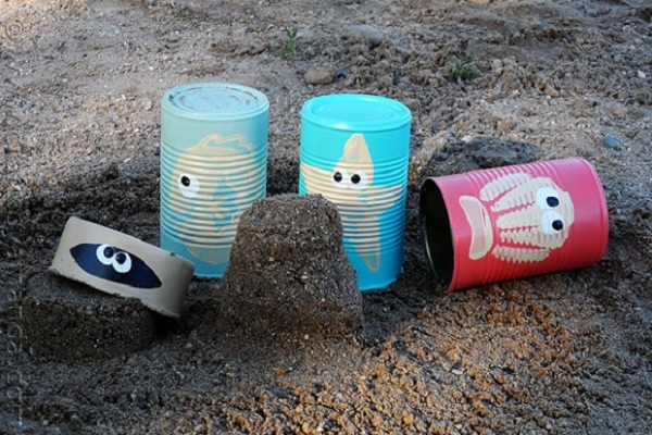 Tin can sand tools by Crafts by Amanda
