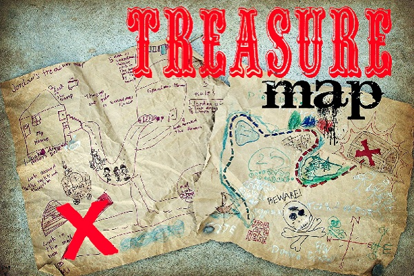 Treasure maps by A Girl and a Glue Gun