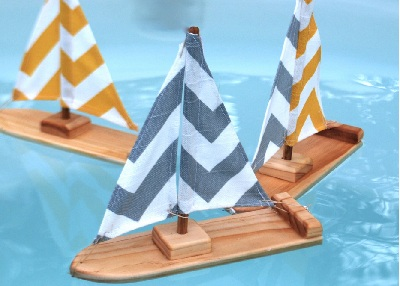 Sailboat bath toy for Easter basket by Tweet Toys on Etsy