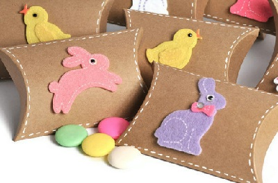 Easter gift boxes by TodoPapel on Etsy
