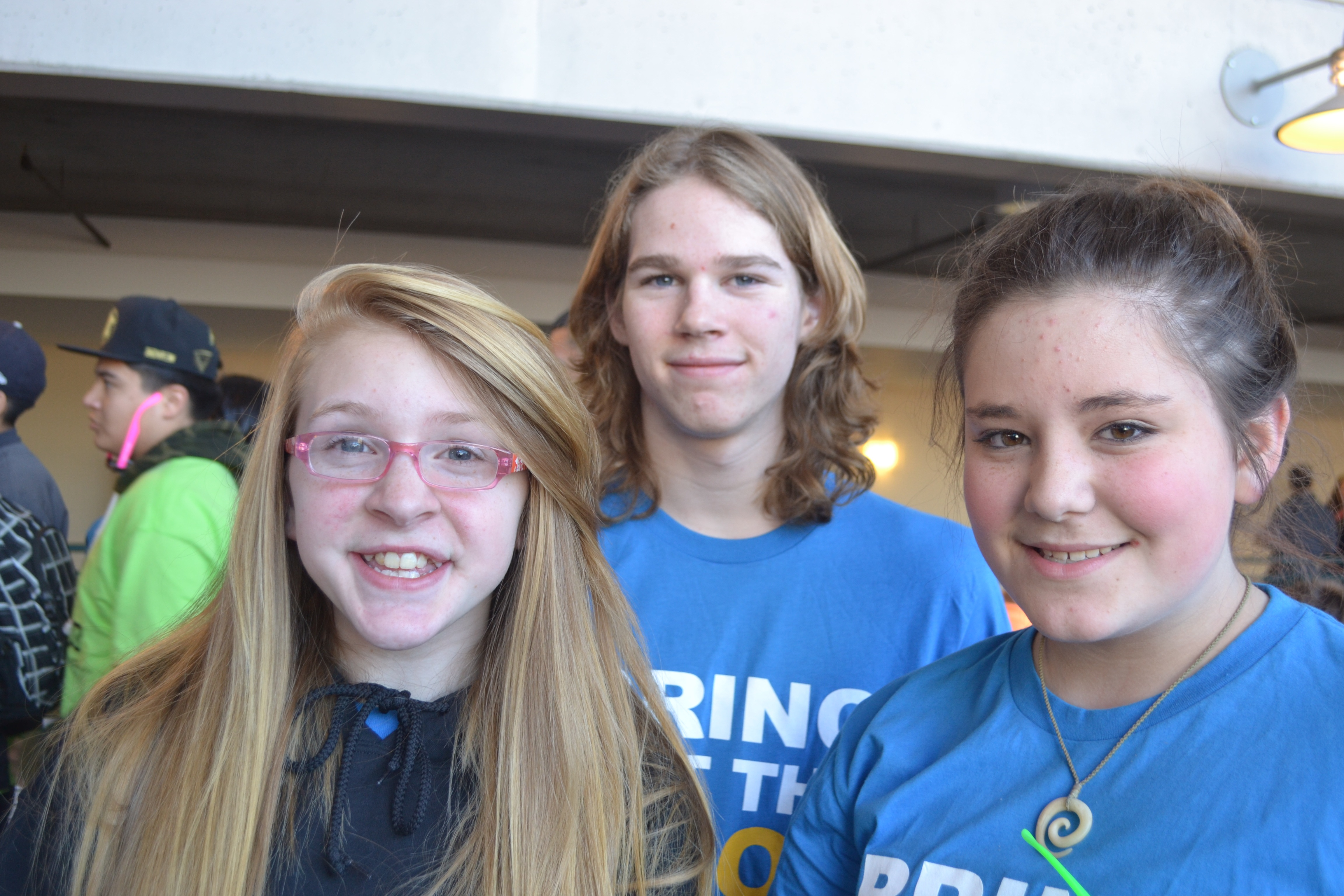 Evergreen Middle School students at We Day 2014