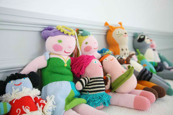 Great baby shower gifts: Blabla hand-knit dolls