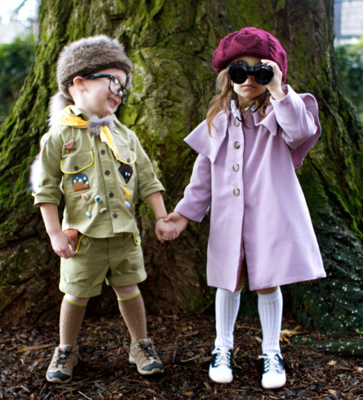 DIY Moonrise Kingdom Halloween costumes for kids by Skirt as Top