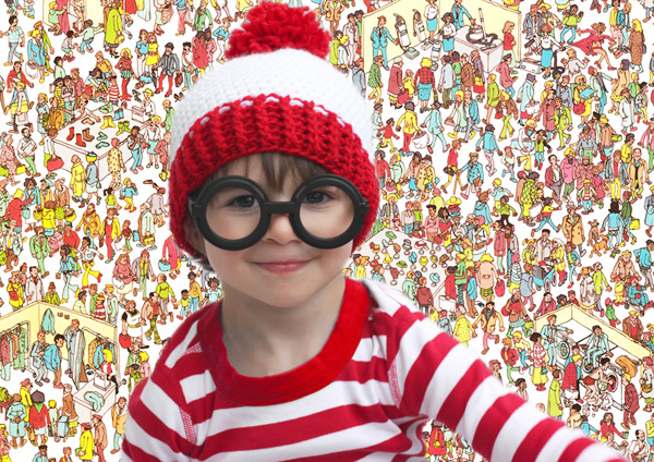 DIY Where's Waldo Halloween costume for kids by Repeat Crafter Me