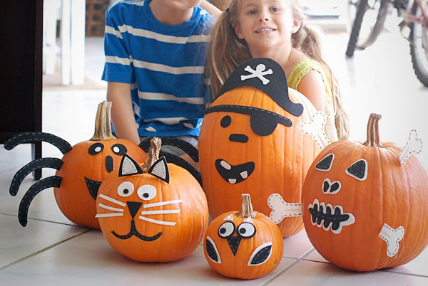 halloween no carve creature pumpkins by a small snippet - Halloween Pumpkin Designs Without Carving