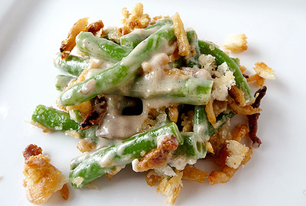 Healthy Thanksgiving side dish: Homemade green bean casserole by Brown Eyed Baker