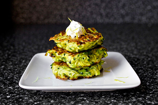Healthy Thanksgiving side dish: Zucchini fritters by Smitten Kitchen