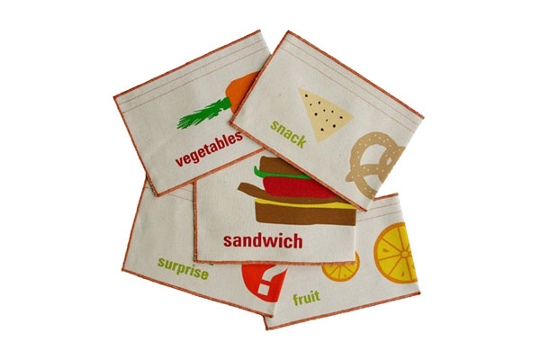 Eco-friendly lunch gear for kids: Graze Organic Reusable Sandwich and Snack Bags