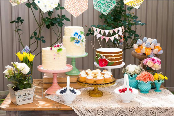 Unique baby shower themes: Garden party-themed baby shower by Kara's Party Ideas