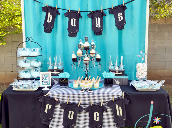 Unique baby shower themes: Rock star-themed baby shower by Project Nursery