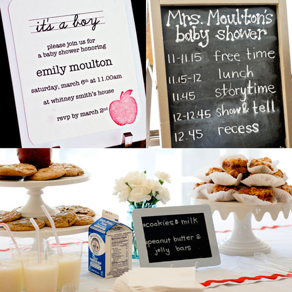 Unique baby shower themes: School-themed baby shower by The Craig Family
