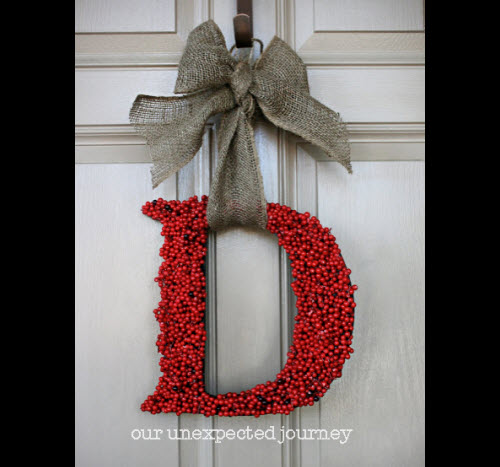 Holiday front door wreaths