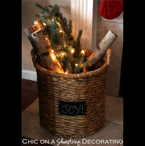christmas baskets - Old Time Christmas Decorations