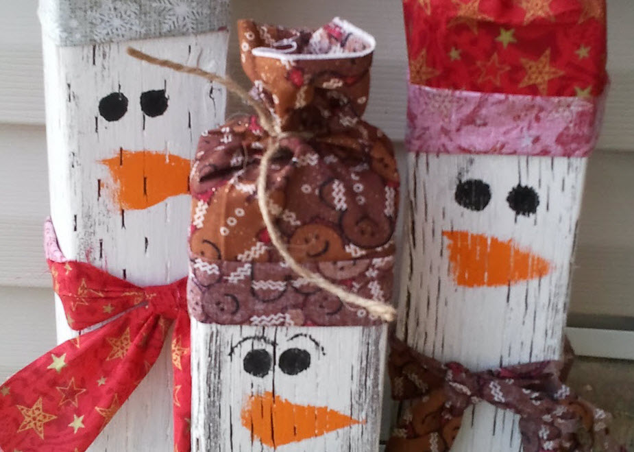 Rustic Christmas homemade decorations