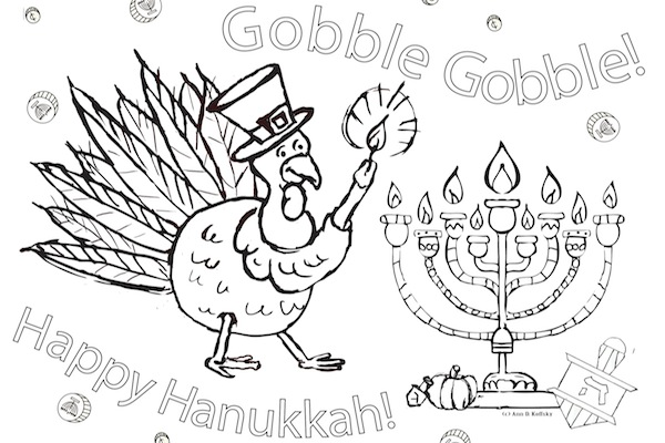 Thanksgivukkah color sheet by Ann Koffsky