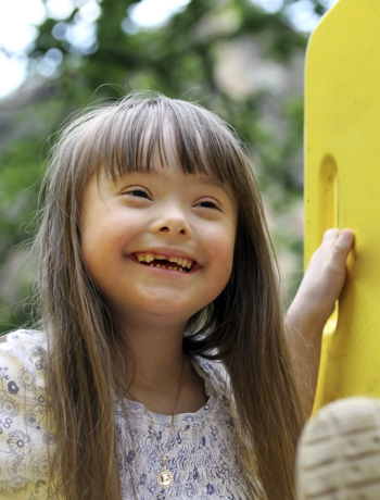 Special Needs Kids Children Beautiful Down Syndrome Girl