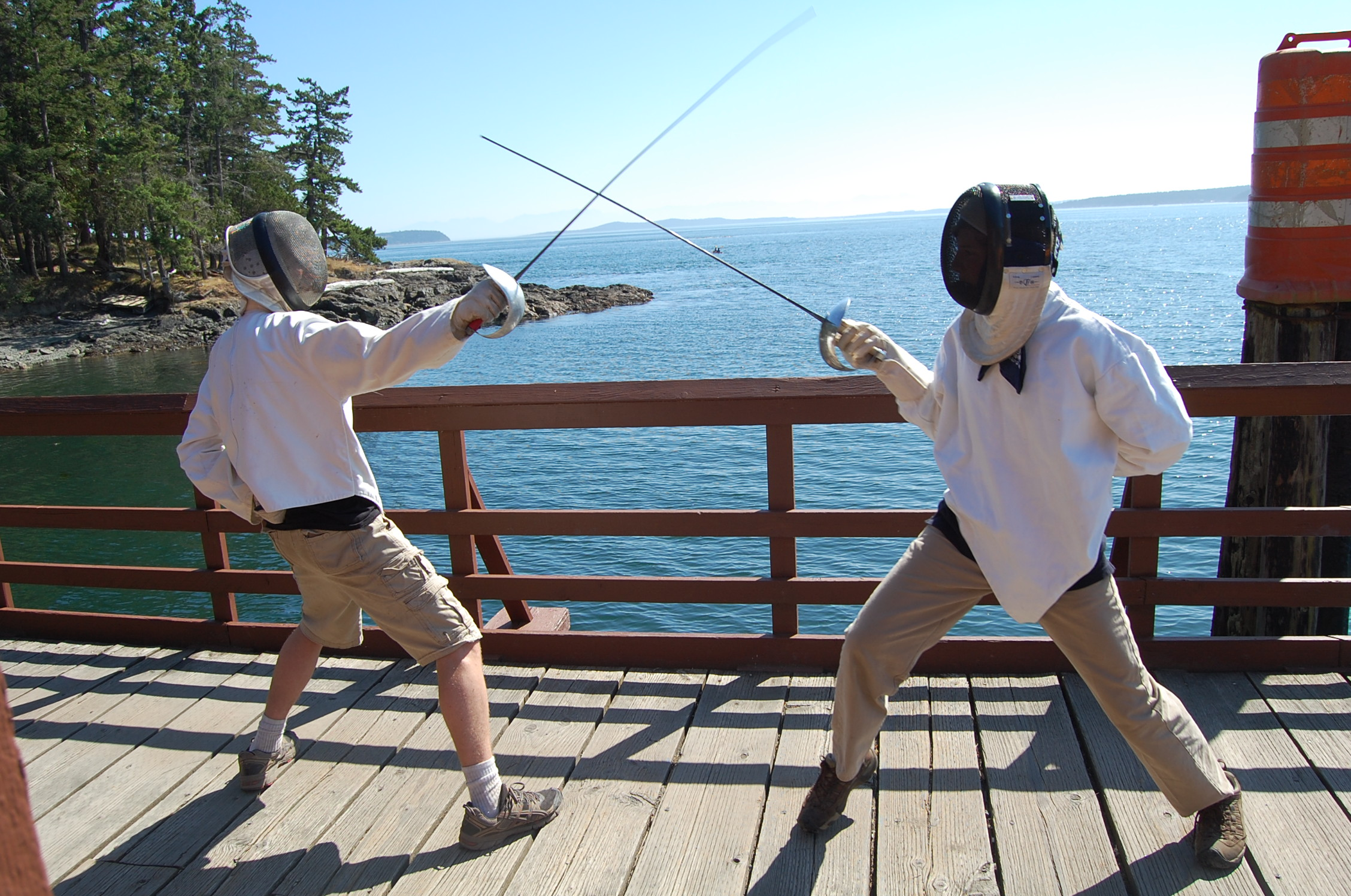 fencing at canoe island french camp