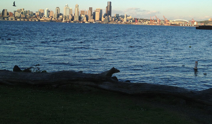 The view from Alki/West Seattle | Elisa Murray