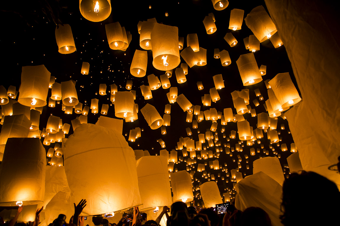 lantern festival Ying Peng in Thailand family travel destinations