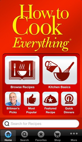 How to Cook Everything iPhone app