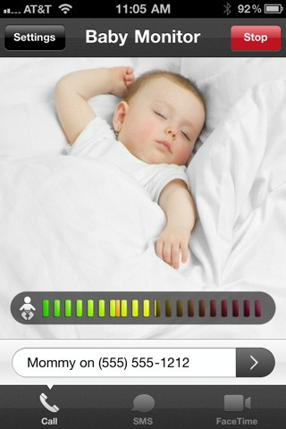 Baby Monitor iPhone app