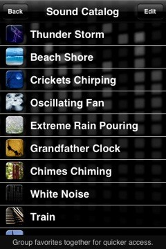 White Noise Lite iPhone app