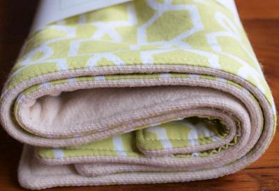 Eco-friendly organic burp cloths by Organic Quilt Company on Etsy